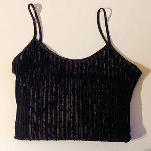 V I N T A G E// Velvet Spaghetti Strap Maxi Dress